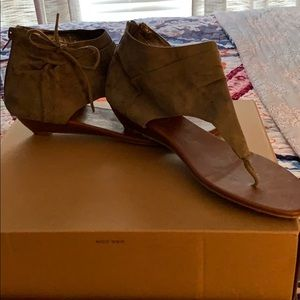 Charlotte Russe olive colored Sandals
